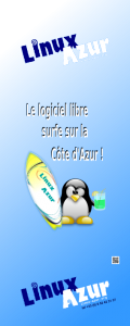 banderole linux azur